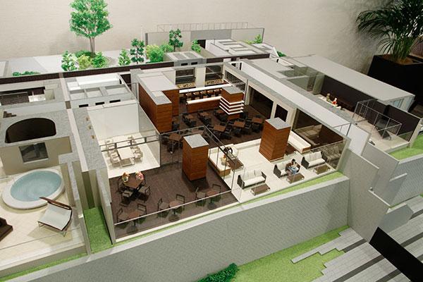 建築模型:室内模型(居室と共用...